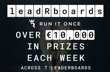 Run It Once's leadRboards Poker Promo, Offering More Prizes